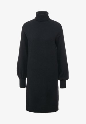 SUPERSOFT TURTLENECK DRESS - Strikket kjole - black