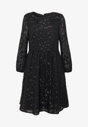 LANA LEOPARD DRESS - Robe de soirée - black