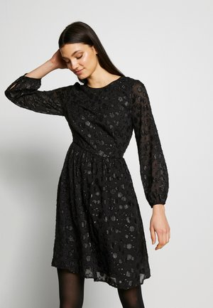 LANA LEOPARD DRESS - Cocktail dress / Party dress - black