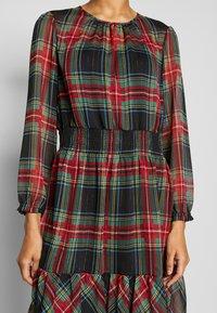 J.CREW - GLENDALE DRESS TARTAN - Korte jurk - black/multi - 6
