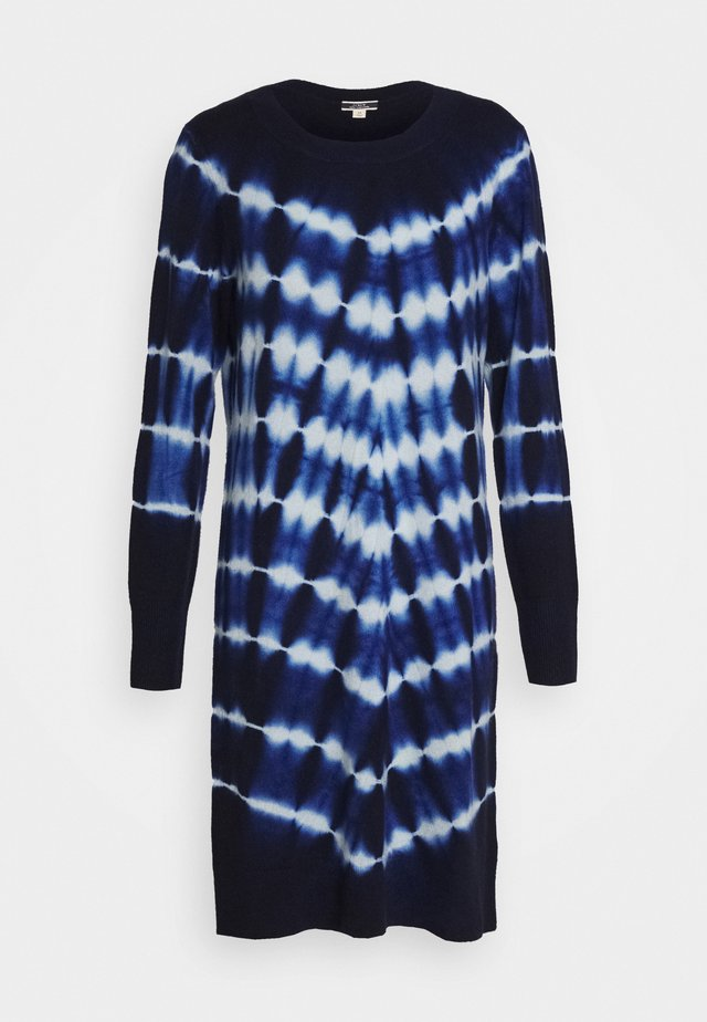 TIE DYE LAYLA DRESS - Jumper dress - navy/classic sky