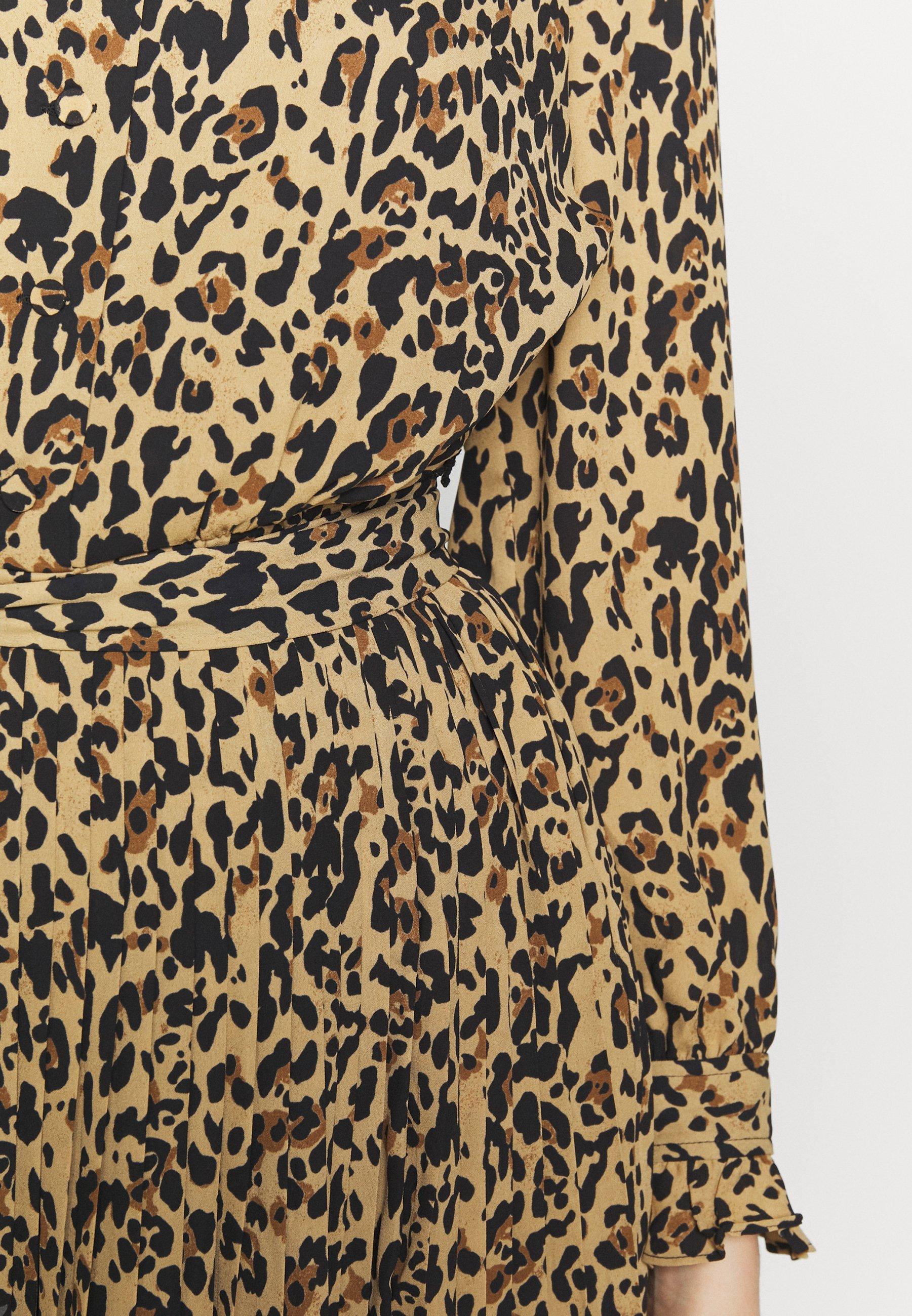 J.CREW LEOPARD CARLY DRESS - Sukienka letnia - ocelot multi