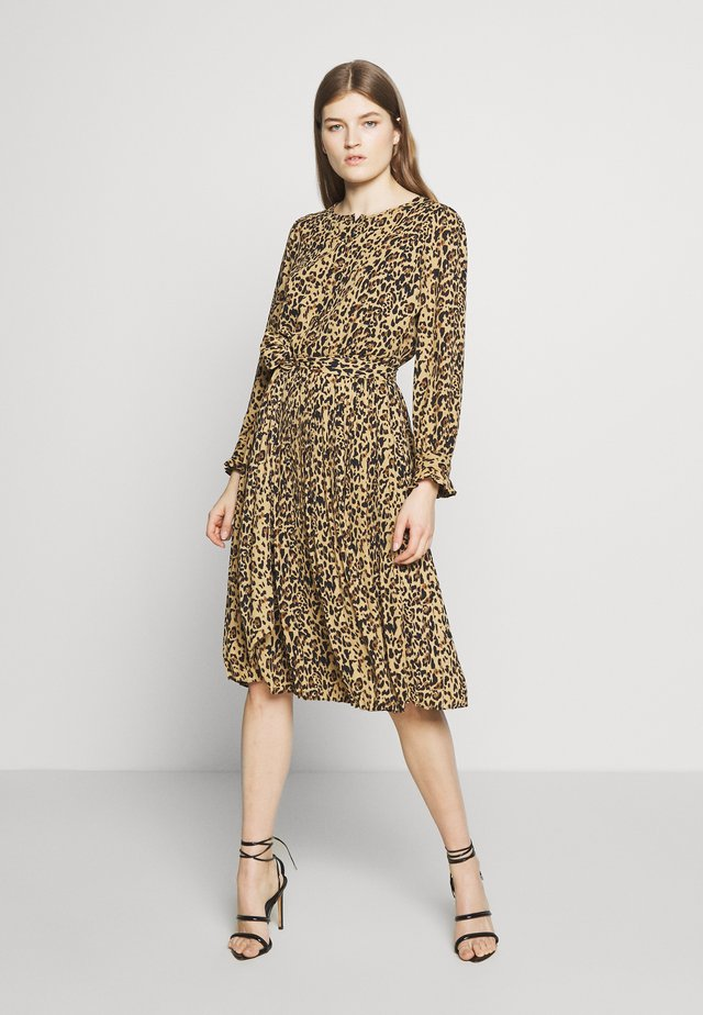 LEOPARD CARLY DRESS - Korte jurk - ocelot multi