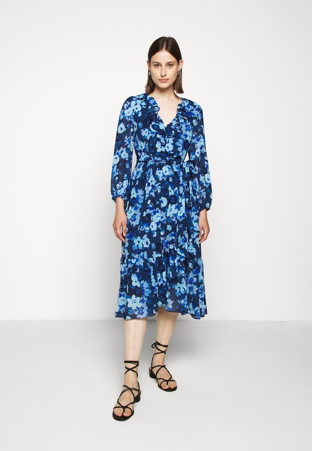 ALESSIA WRAP DRESS - Korte jurk - blue meadow