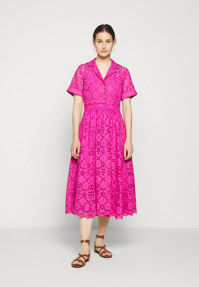MAHALIA DRESS - Shirt dress - neon flamingo