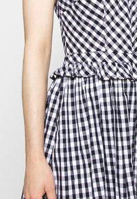 J.CREW - JO DRESS GINGHAM - Shirt dress - white/navy - 5