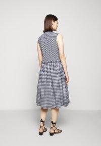 J.CREW - JO DRESS GINGHAM - Shirt dress - white/navy - 2