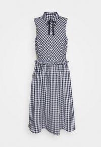 J.CREW - JO DRESS GINGHAM - Shirt dress - white/navy - 4