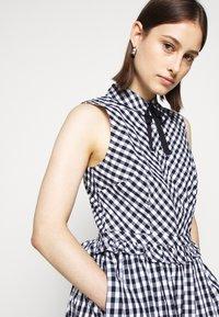 J.CREW - JO DRESS GINGHAM - Shirt dress - white/navy - 3
