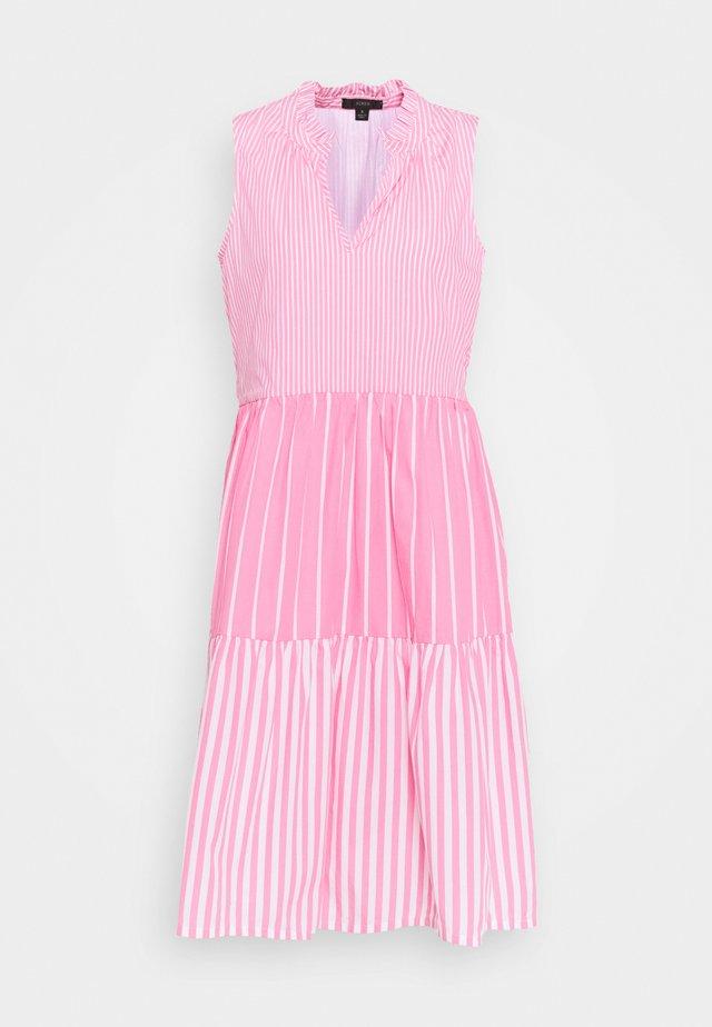 MIXY STRIPE TIERED MIDI - Day dress - pink