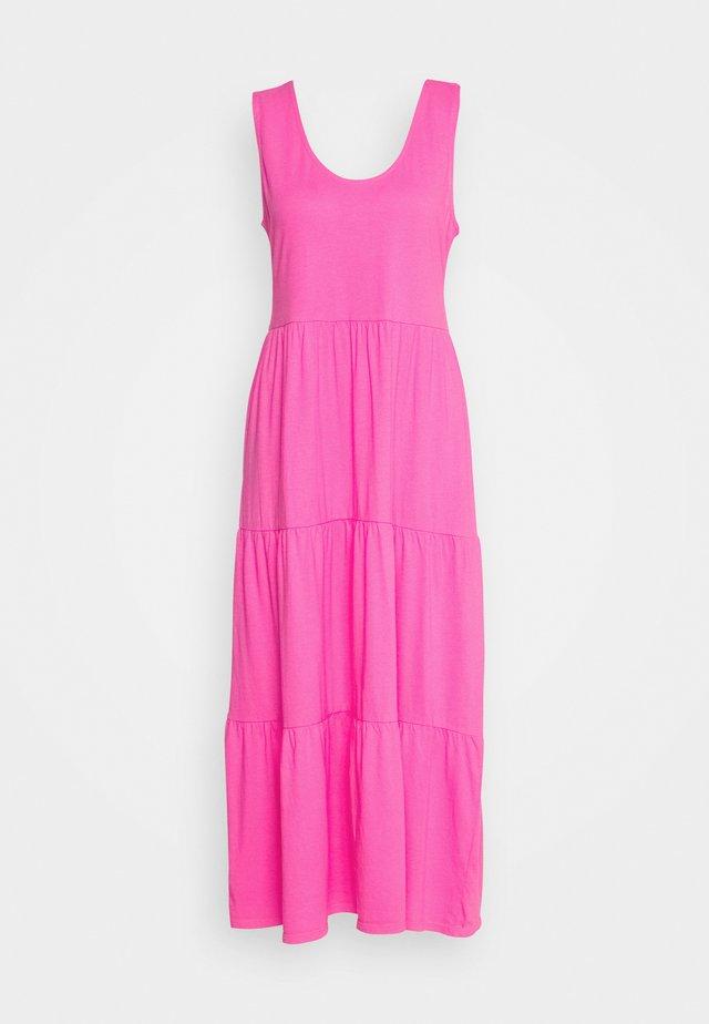 BROKEN IN TIERED - Jersey dress - brilliant sunset