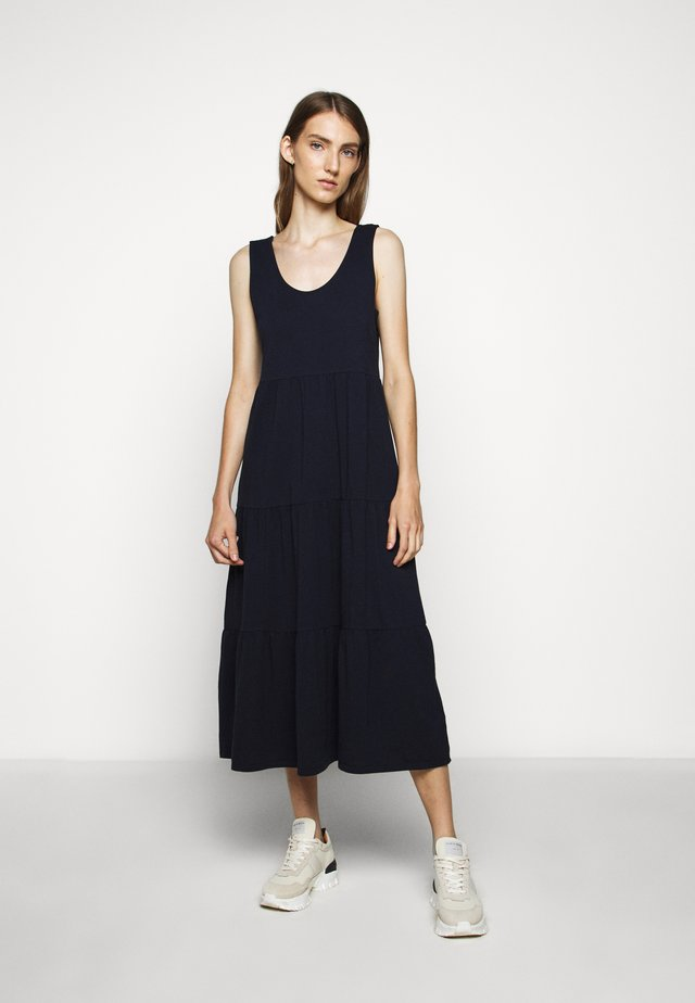 BROKEN IN TIERED - Vestito di maglina - navy
