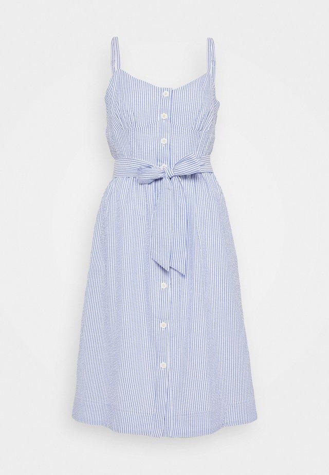 ROSINI DRESS CARLYLE SEERSUCKER - Freizeitkleid - blue/white