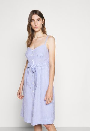 ROSINI DRESS CARLYLE SEERSUCKER - Korte jurk - blue/white