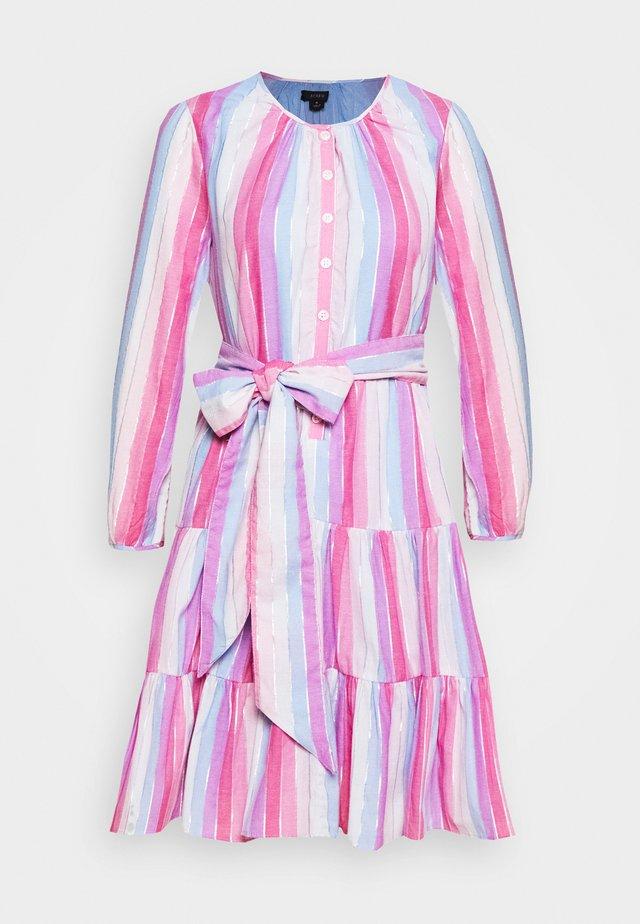 BUTTON DOWN TIERED MINI - Korte jurk - purple