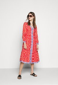J.CREW - DRESS IN BLOCKPRINT - Blousejurk - cerise cove/multi - 1