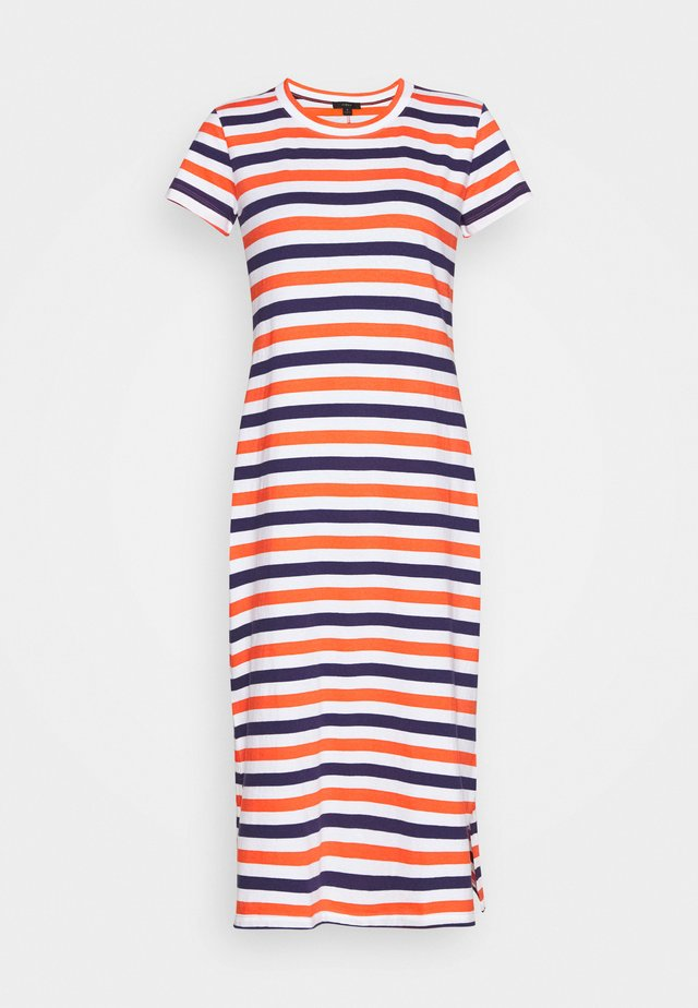 MIDI DRESS IN STRIPE - Jerseyklänning - cherry/dosido/navy/red