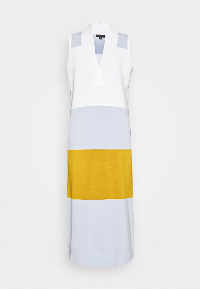 Jumper dress - ivory shale/blue/wheat