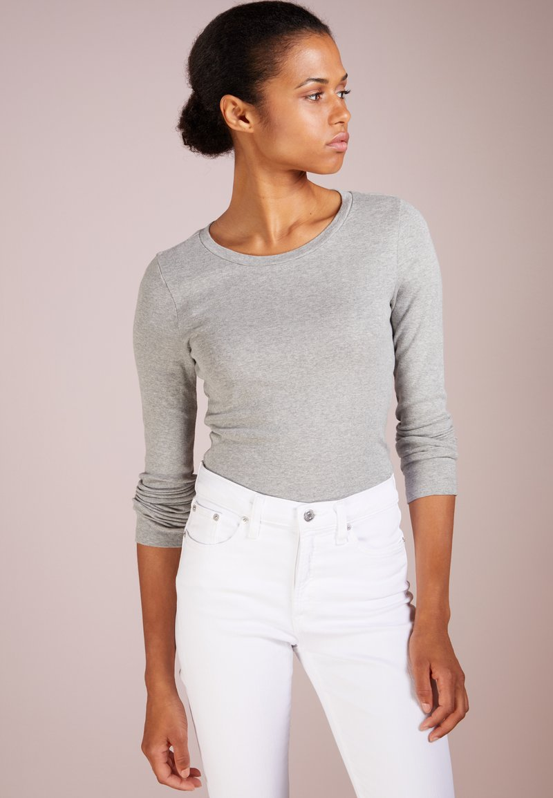 J.CREW - SLIM PERFECT TEE - T-shirt à manches longues - heather grey