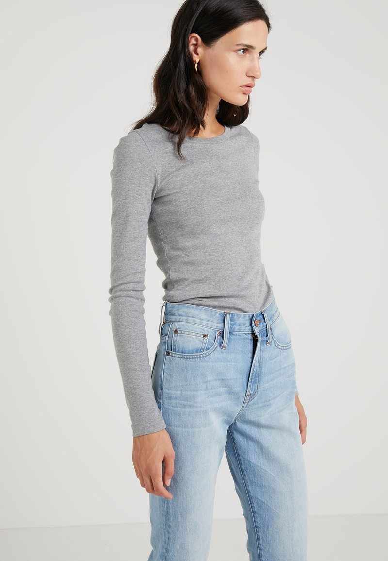 J.CREW - SLIM PERFECT TEE - Long sleeved top - heather grey