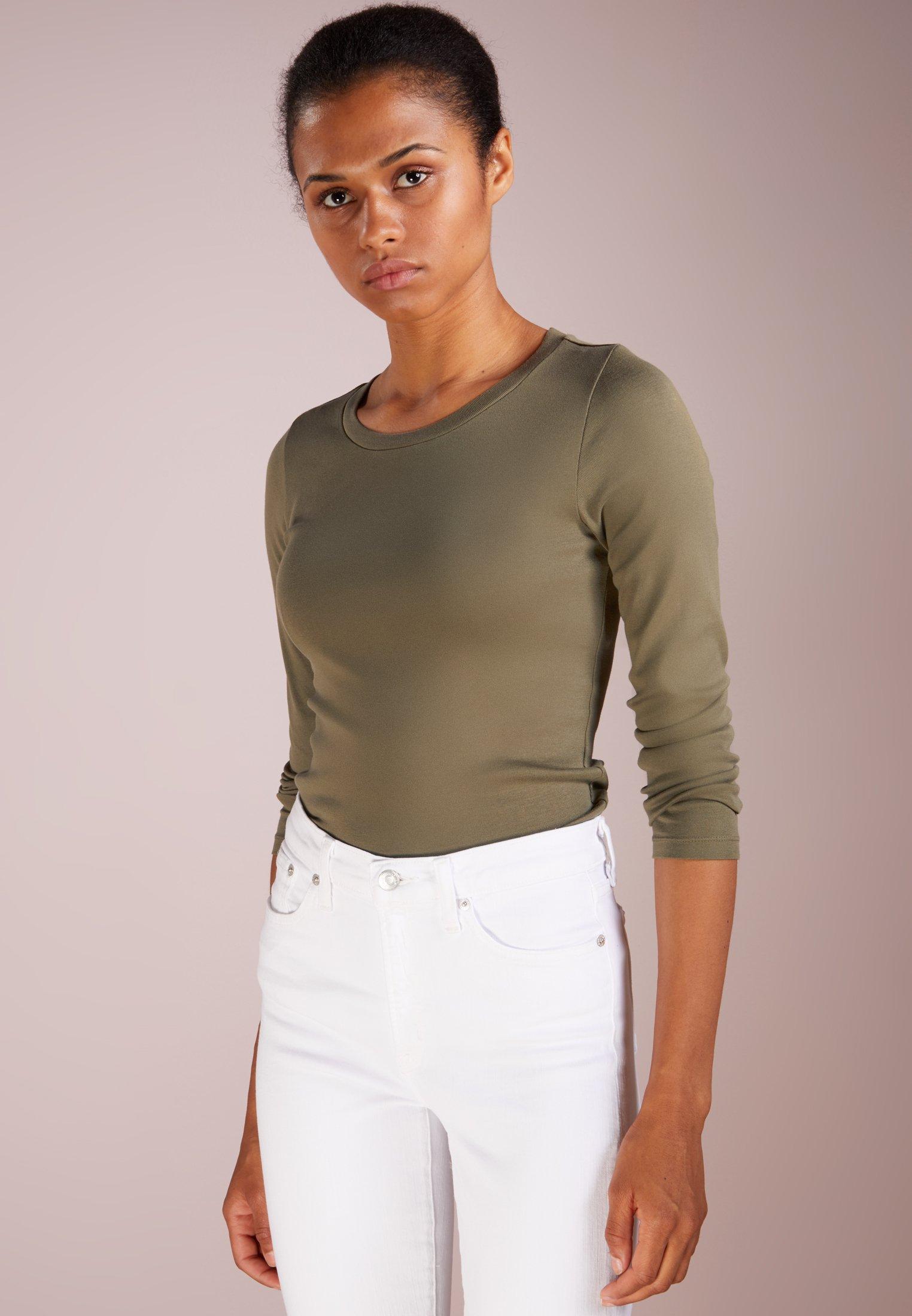J.CREW SLIM PERFECT - Bluzka z długim rękawem - frosty olive