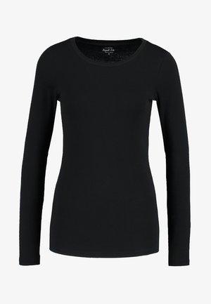 SLIM PERFECT TEE - Long sleeved top - black