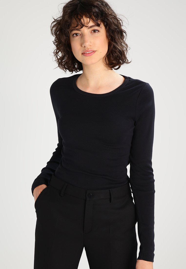 J.CREW - SLIM PERFECT TEE - Longsleeve - black