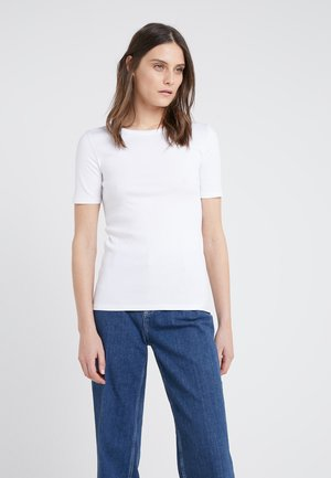 SLIM PEFECT ELBOW SLEEVE TEE - Basic T-shirt - white