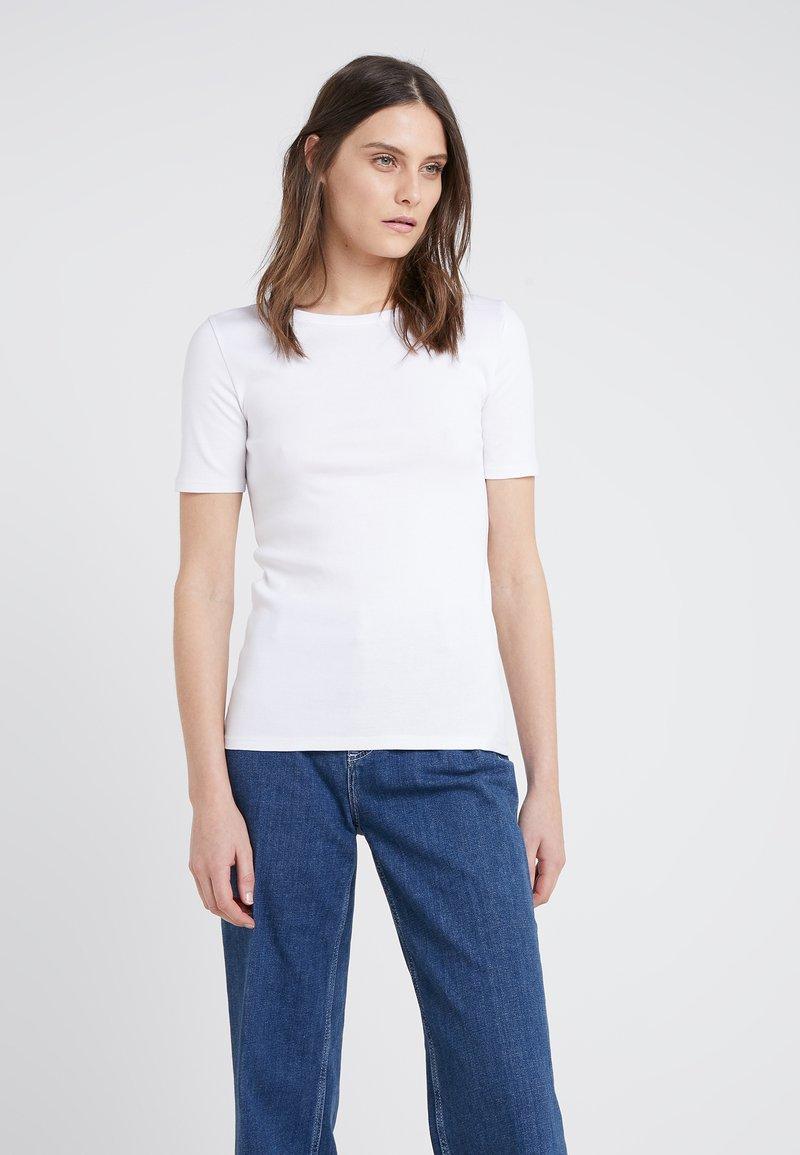 J.CREW - SLIM PEFECT ELBOW SLEEVE TEE - T-shirts basic - white