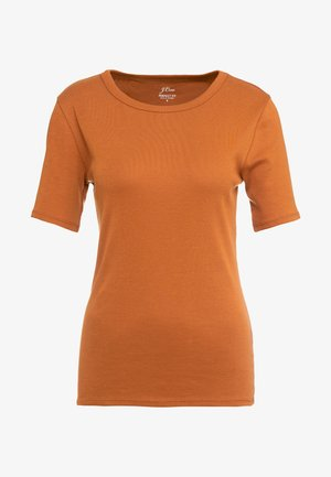 SLIM PEFECT ELBOW SLEEVE TEE - T-shirt basic - adobe