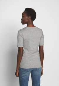 J.CREW - SLIM PEFECT ELBOW SLEEVE TEE - Basic T-shirt - heather dusk - 2