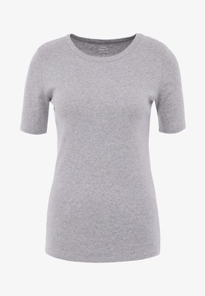SLIM PEFECT ELBOW SLEEVE TEE - Camiseta básica - heather grey