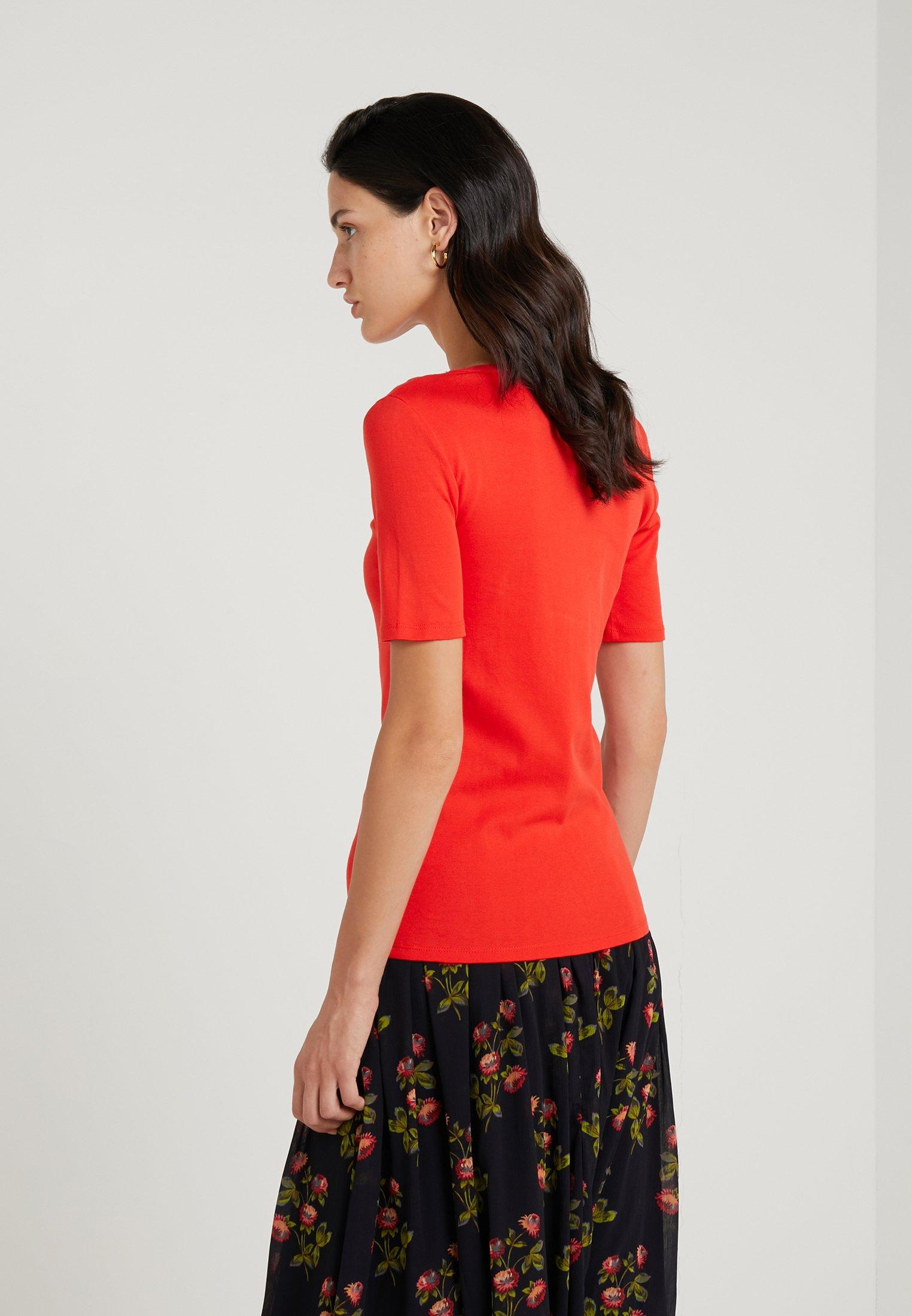 J.CREW SLIM PEFECT ELBOW SLEEVE TEE - T-shirts - bright cerise