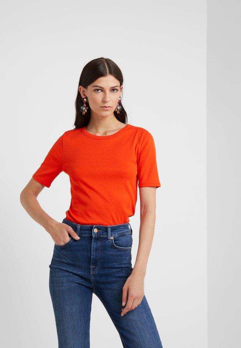 J.CREW - SLIM PEFECT ELBOW SLEEVE TEE - T-Shirt basic - bold red