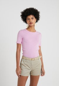 J.CREW - SLIM PEFECT ELBOW SLEEVE TEE - Basic T-shirt - heather smoky wisteria - 4
