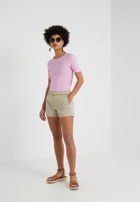 J.CREW - SLIM PEFECT ELBOW SLEEVE TEE - Basic T-shirt - heather smoky wisteria - 1