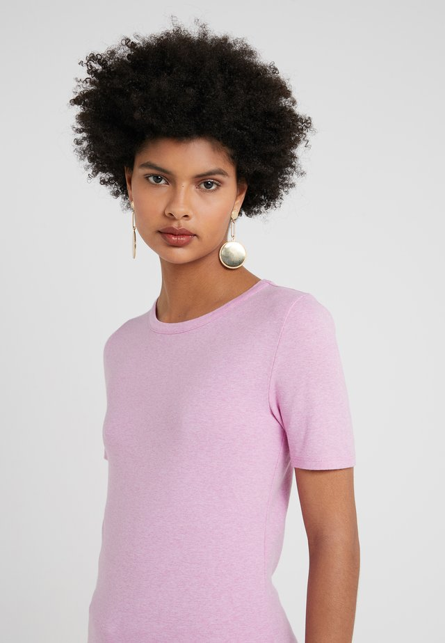 SLIM PEFECT ELBOW SLEEVE TEE - Jednoduché triko - heather smoky wisteria