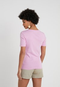 J.CREW - SLIM PEFECT ELBOW SLEEVE TEE - Basic T-shirt - heather smoky wisteria - 2