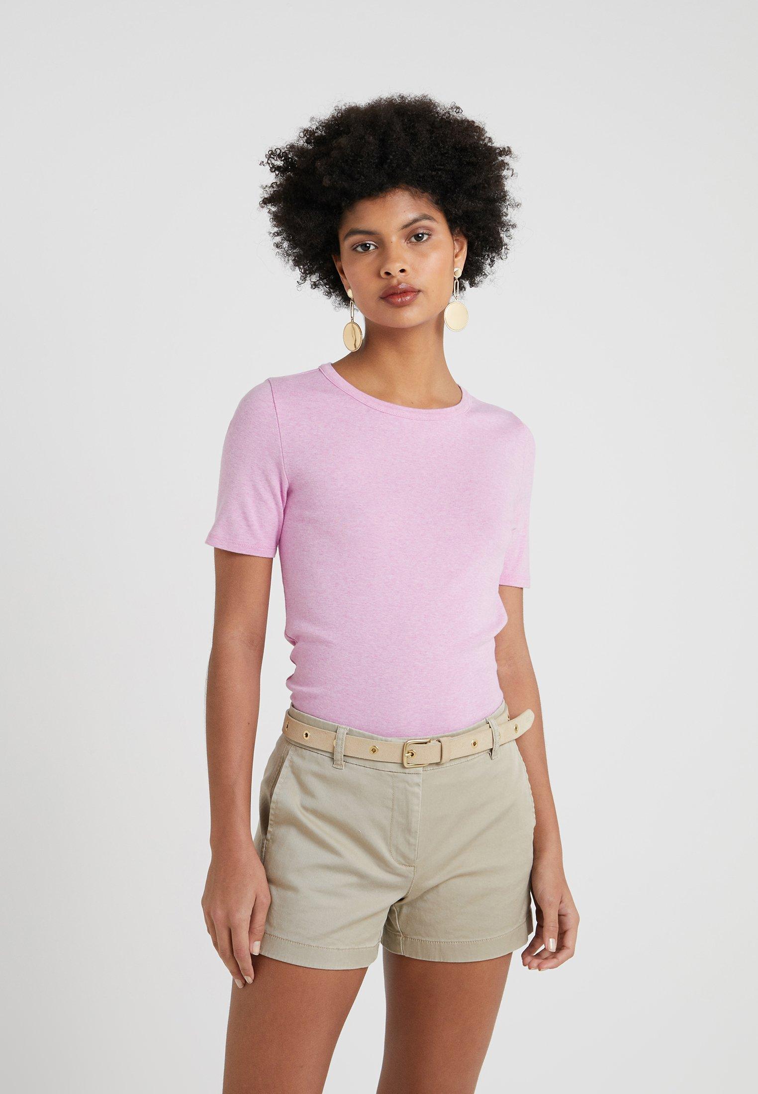 Elbow TeeT shirt Slim Basique Heather Wisteria Sleeve crew Pefect Smoky J FTJlK1c
