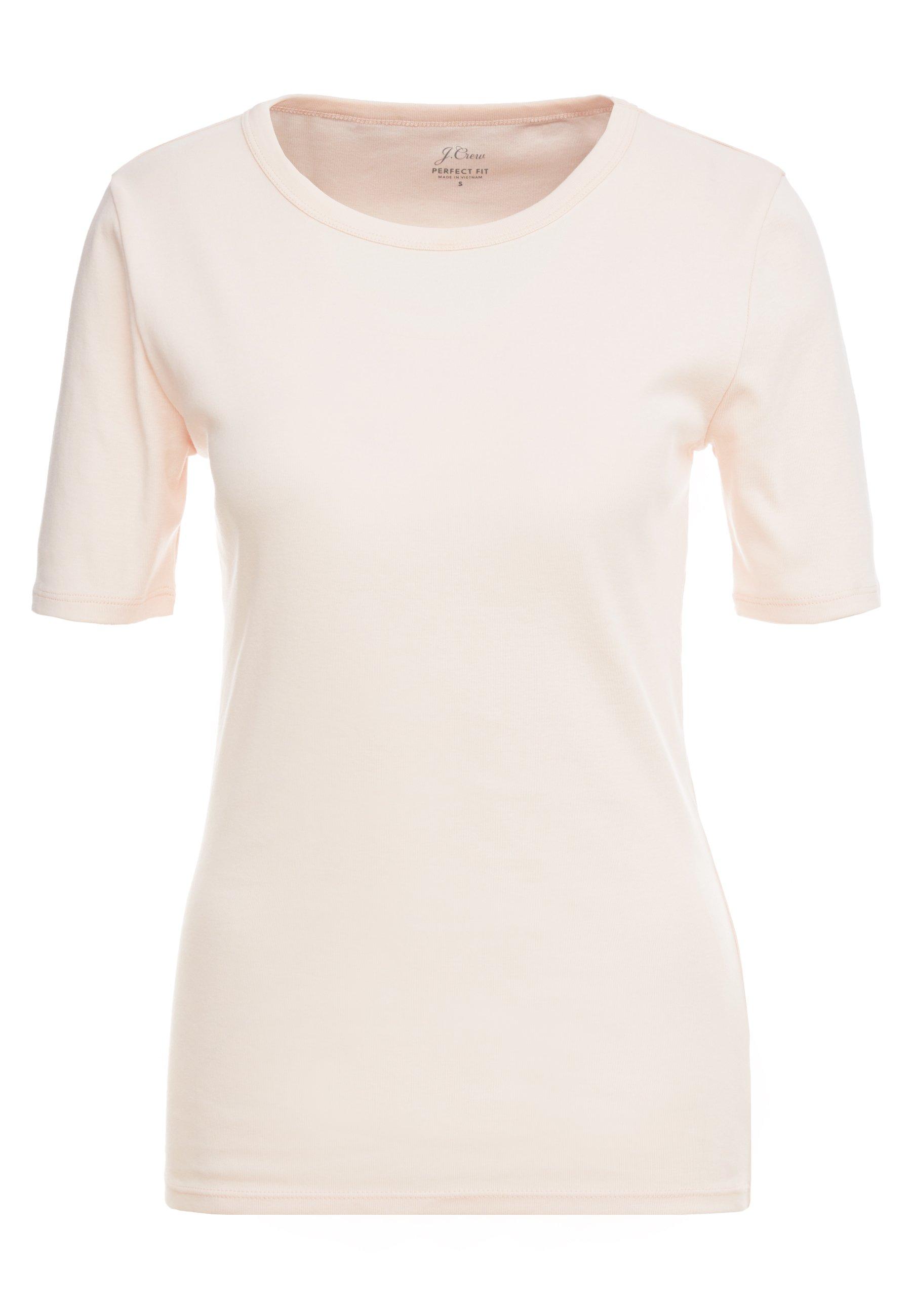 J.CREW SLIM PEFECT ELBOW SLEEVE TEE - Basic T-shirt - subtle pink