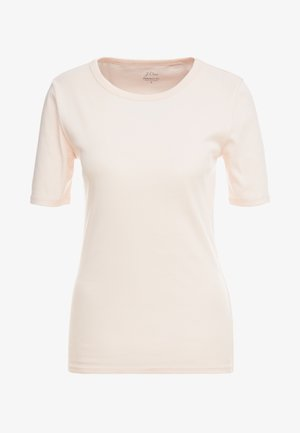 SLIM PEFECT ELBOW SLEEVE TEE - Basic T-shirt - subtle pink