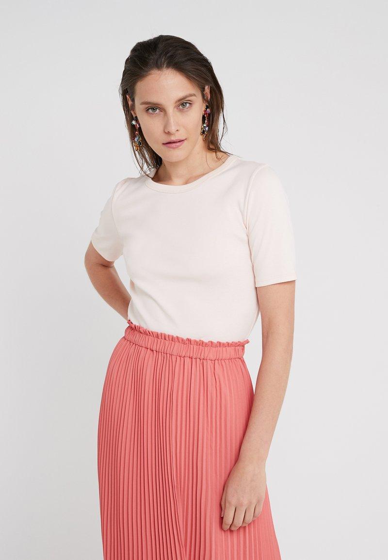 J.CREW - SLIM PEFECT ELBOW SLEEVE TEE - T-Shirt basic - subtle pink