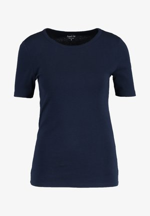 SLIM PEFECT ELBOW SLEEVE TEE - T-shirts - navy