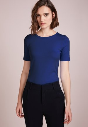CREWNECK ELBOW SLEEVE - Basic T-shirt - shale blu