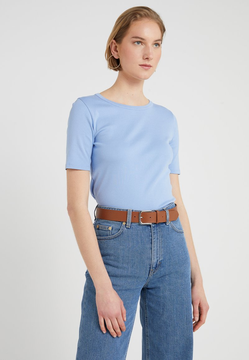 J.CREW - SLIM PEFECT ELBOW SLEEVE TEE - T-shirt basic - frosty sky