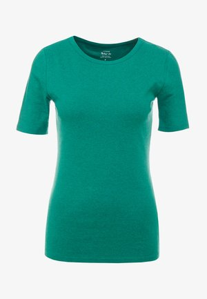 SLIM PEFECT ELBOW SLEEVE TEE - Jednoduché triko - heather emerald green