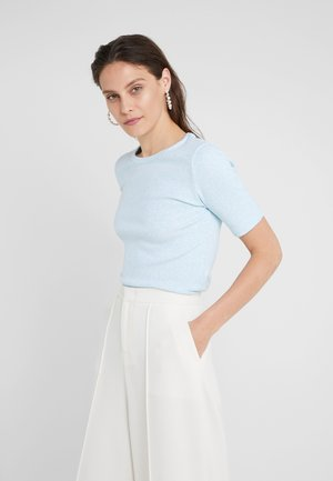 SLIM PEFECT ELBOW SLEEVE TEE - T-shirt - bas - aqua heather