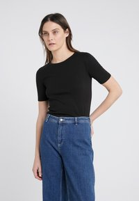 J.CREW - SLIM PEFECT ELBOW SLEEVE TEE - T-shirt basic - black - 0