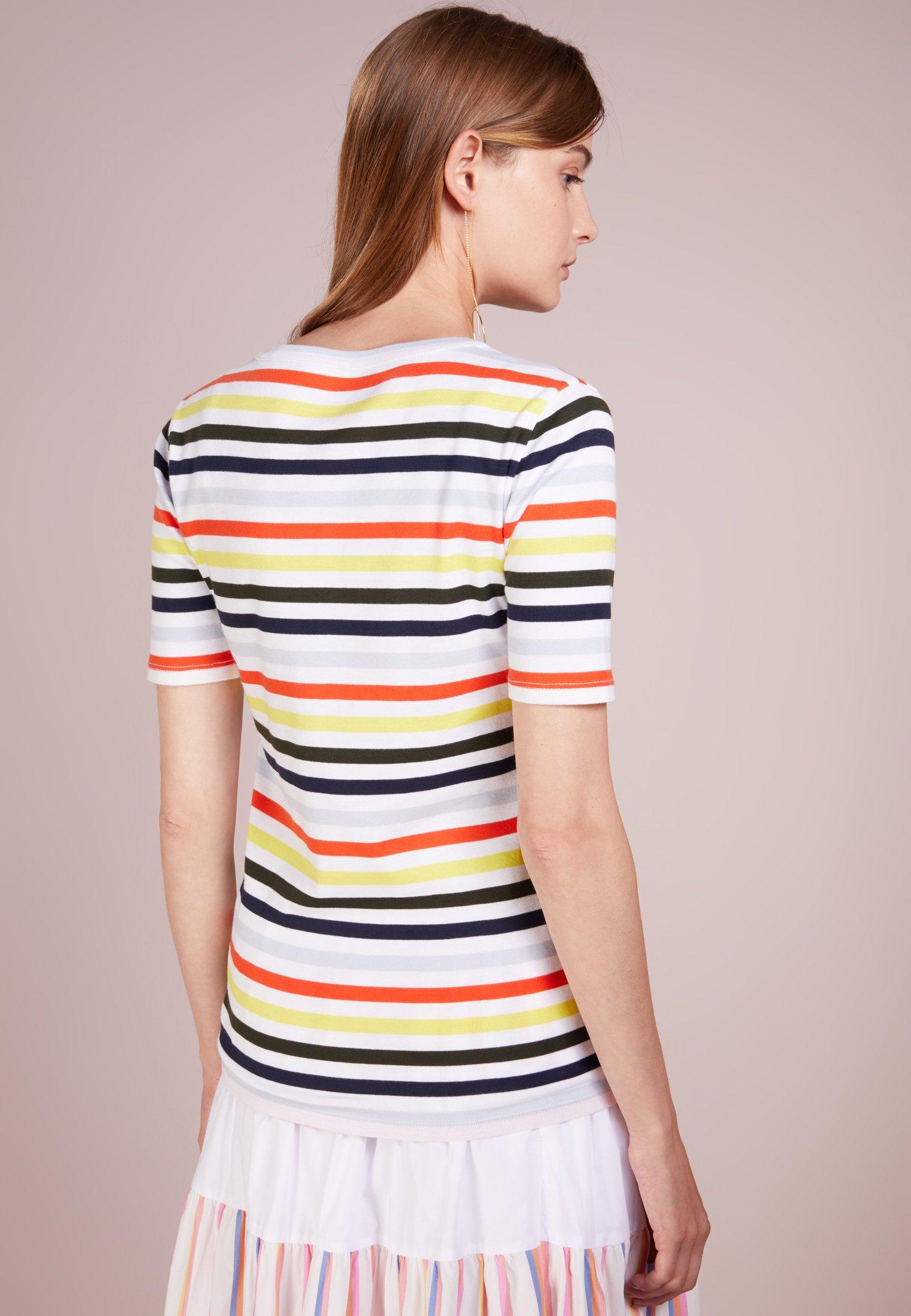 crew Fit shirt Tee Multi StripeT Imprimé White J Perfect HIeYWDbE29