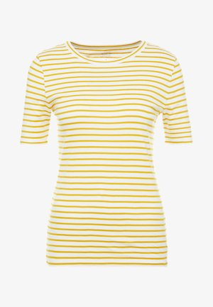 PERFECT FIT TEE  - T-Shirt print - rich gold/ivory